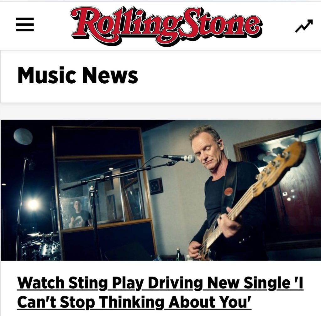 "Rolling Stone Premiere of Sting's I Can't Stop Thinking About You"", Directed by Jeff Coffman"